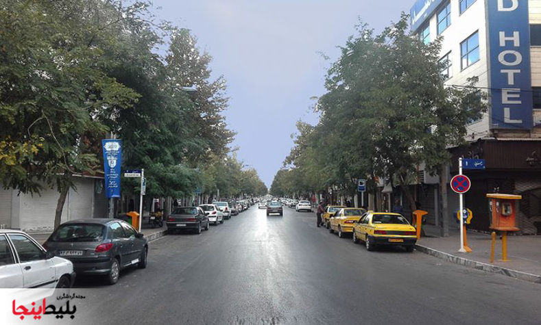 ابتدای خیابان راهنمایی مشهد ،خیابان شلوغ وخاطره انگیز مشهد