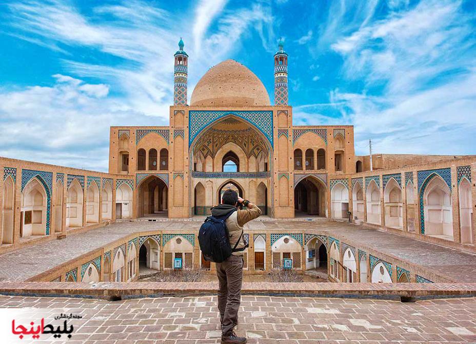 مسجد و مدرسه ی آقا بزرگ کاشان ،مسجدی تاریخی با معماری زیبا