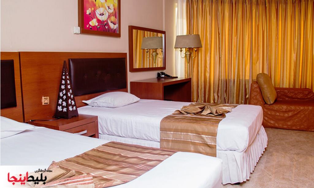 اتاق های هتل سی برگ مشهد در خیابان احمدآباد
