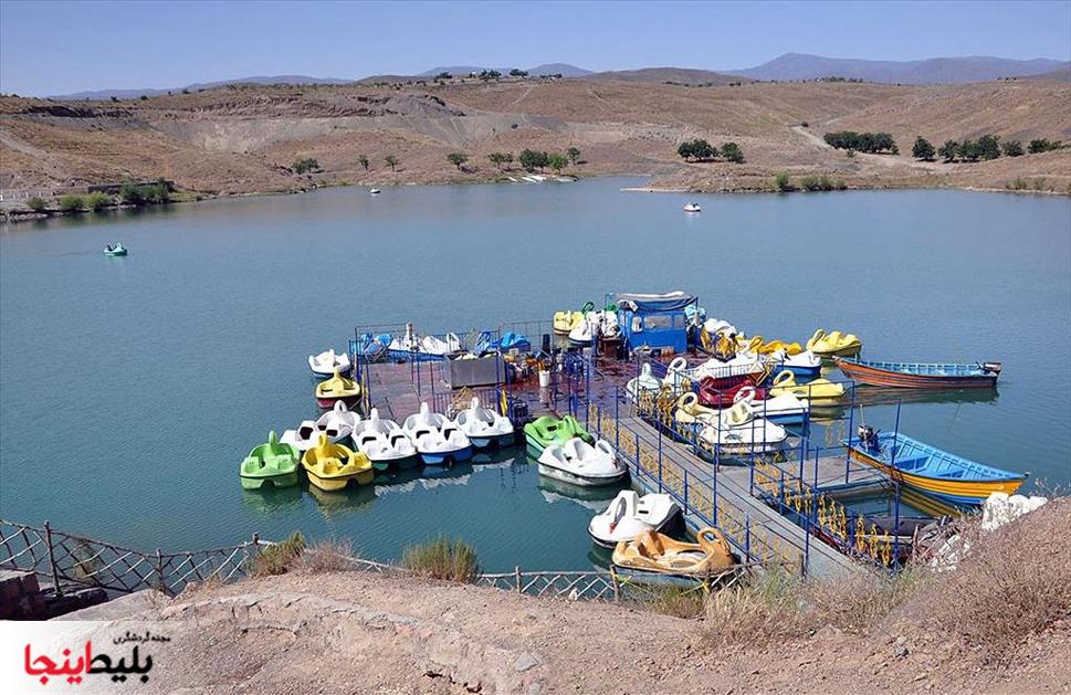 انواع قایق در دریاچه ی زیبای چالیدره