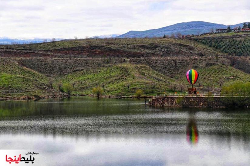 دریاچهی چالیدره یکی از مکان های گردشگری در مشهد