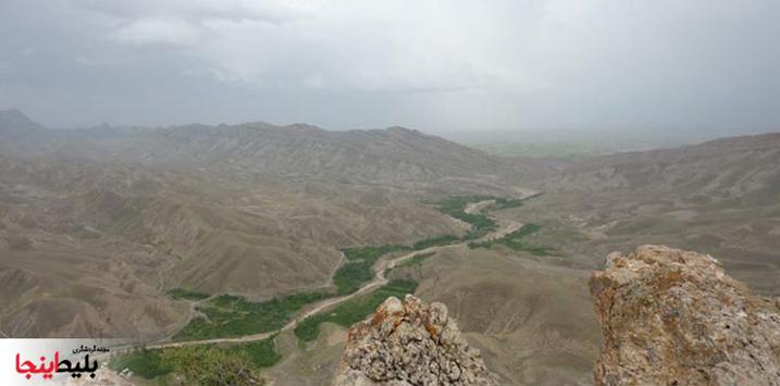 روستای آبقد خراسان از نمای بالا
