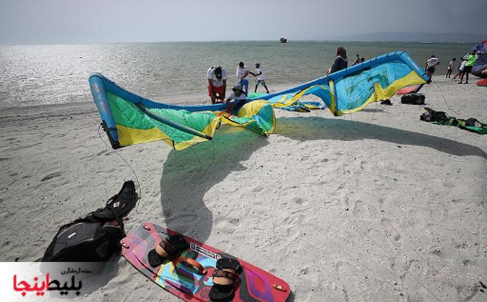 کایت بردینگ در جزیره زیبای کیش